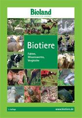 Titelseite der Broschüre Biotiere